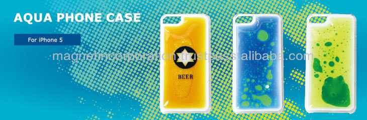 Plastic Liquid Oil Mobile Phone Case for iPhone 5, 5s, 5c (Fake Beer / Liquid Blue / Liquid Yellow)