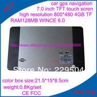Специализированный магазин 7.0 TFT gps 4 TF ram128mb, + MP3 + FM wince 6.0 800 * 480