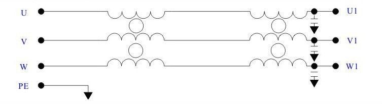 3 фазы на входе эмс/emi фильтр