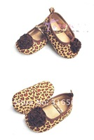 Пинетки Best selling! Leopard style baby princess shoes Toddler infant flower shoes 1pair