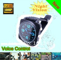 Waterproof HD 1080p Voice control Infrared watch dvr camera Night vision free 8GB IRW-S7