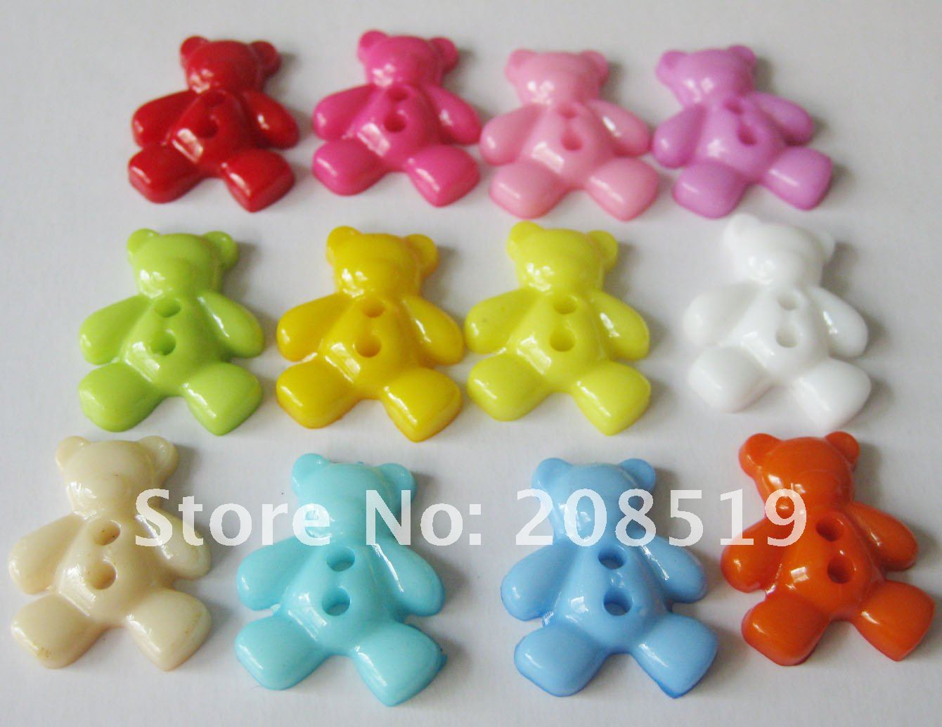 NB075 fashion buttons 500pcs cartoon buttons BEAR shape children buttons fashion plastic buttons
