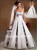 White wedding dress black ball wedding a matron of honour dress party a matron of honour dress pose new satin nail bead