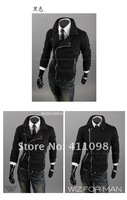 Мужская ветровка Men's Fashion Jacket Slim Overcoat DK Gray, Black M-XXL and Retail