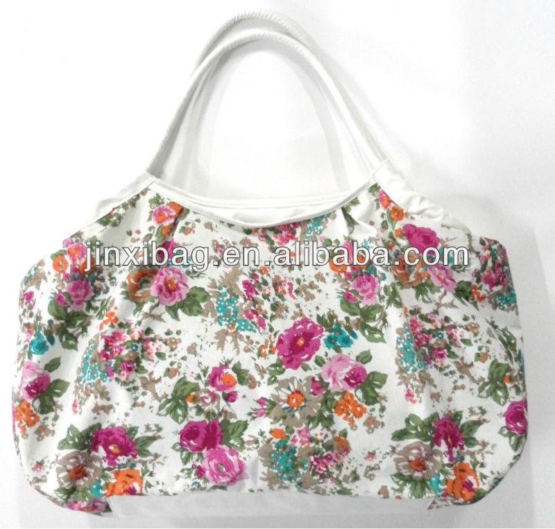 Yiwu última moda bolsos de los bolsos de tela de algodón