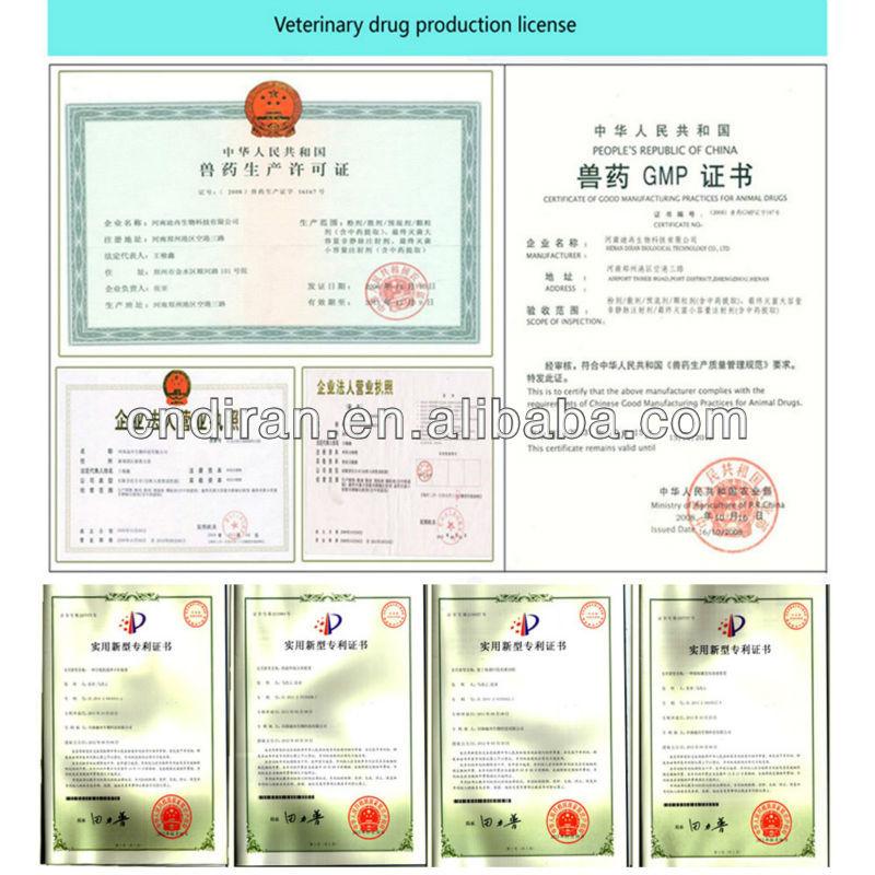 Made In China GMP atestado medicina veterinária engordar porco ganho de peso em pó