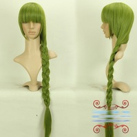 Midorima Shintaro 100cm green long straight ponytail anime cosplay costume wig,synthetic hair.Free shipping