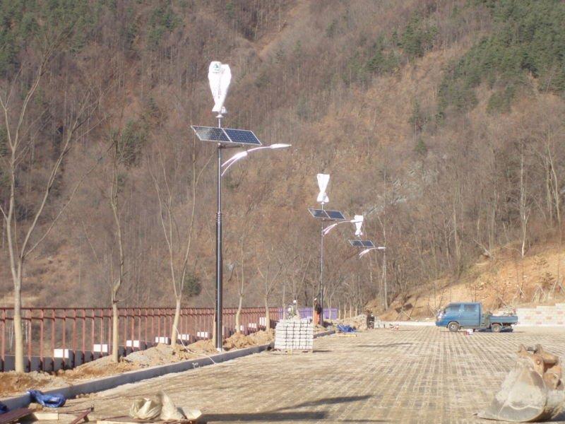 vertical wind turbine in Korea street