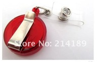 wholesale ID holder name tag card key Badge Reels Round Solid Translucent Plastic Clip-On Retractable Reel