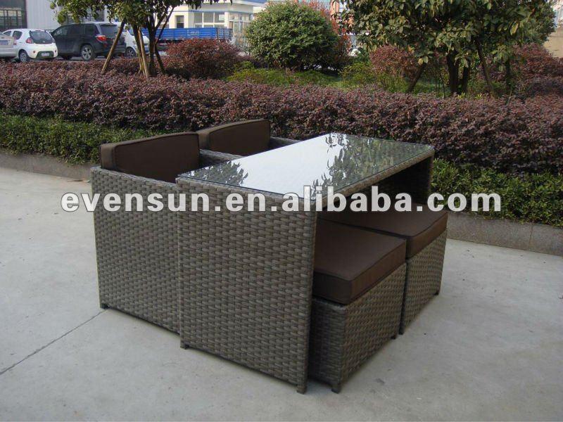 mobiliario de jardim em rattan sintetico:alumínio mobiliário de jardim conjunto de sofá conjunto de sofá de