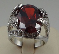 Кольцо New and retail Stunning Ruby rings in 14KT white gilding