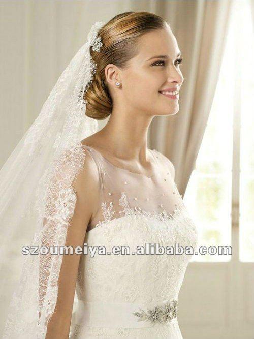 Beautiful Sheer Neckline Wedding Dress Contemporary Styles Ideas