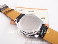 Наручные часы New Arraival Cool wrist Watches men Black Leather Analog quartz Watch QW001