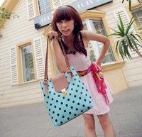 Вечерняя сумка Fashion women is PU red bag fashion printed dot hand bag factory sale H011