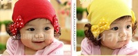 Детский аксессуар для волос Fashion Wide Double Bowknot Headwear Baby Headband with Wig 20pcs/lot HZ008