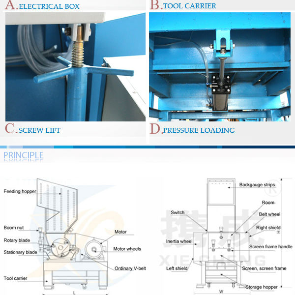 plastic film crusher and recycle machine