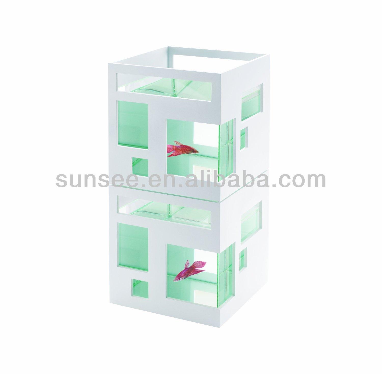 6.7L acrylic fish tank,fish aquariums, Led light optional. EE-030