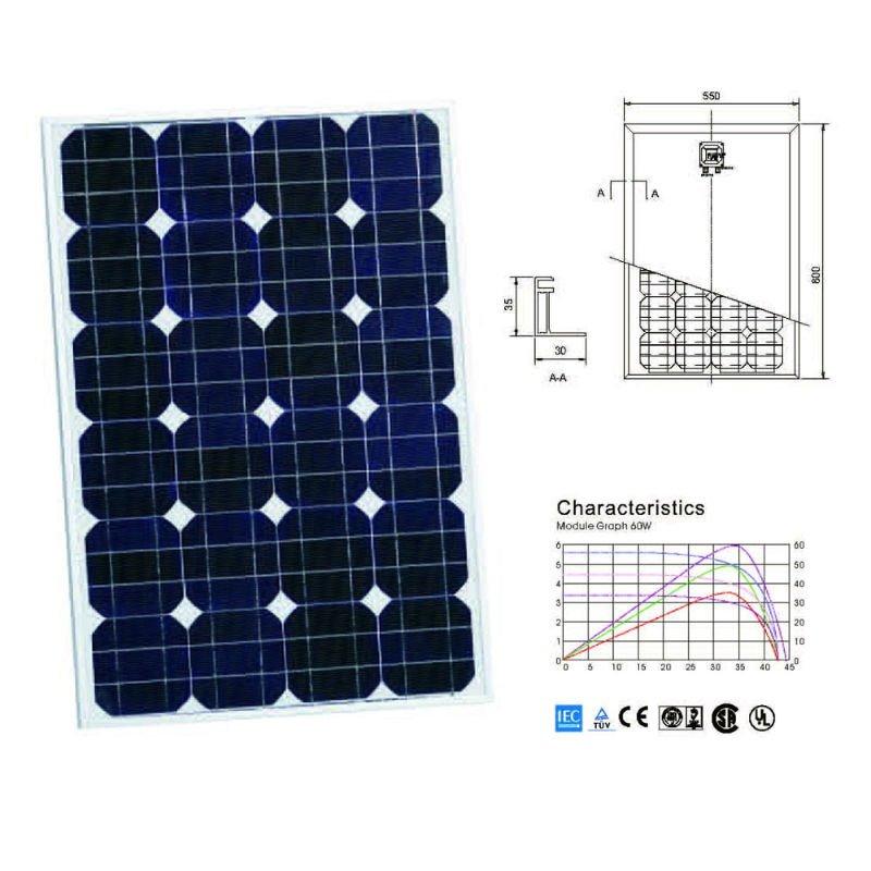 moncrystaline silicon 130w sunrise pv solar panels