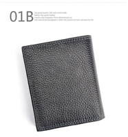 New arrival!! Free Shipping 1 piece, fashion genuine leather men wallets, hot sale black color wallet for men, men card holder