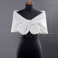 Свадебная накидка 1pcs/lot GK Faux Fur Bridal Wrap Shawl Stole Bolero Tippet Wedding Shrug CL2614