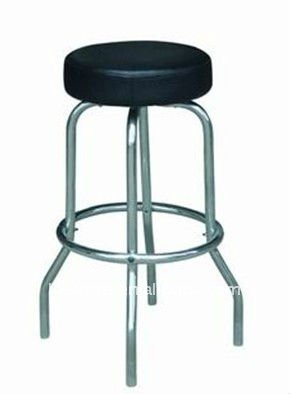metal ,leather ,swivel barstool