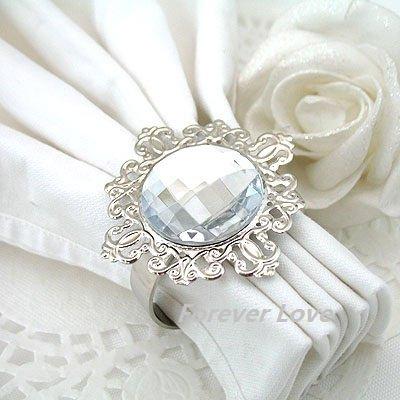 wholesale black gem napkin rings wedding bridal shower favour free