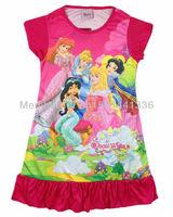 Free shipping 4pcs/lot kids girls cute summer pajamas Children summer pyjamas/baby nightgown/homewear/sleepwears