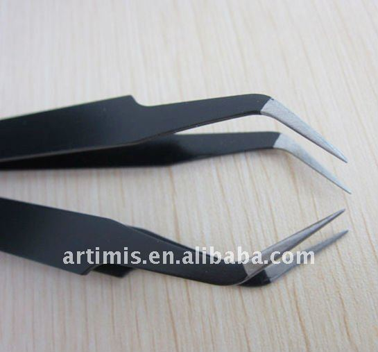 Steel curved tweezers