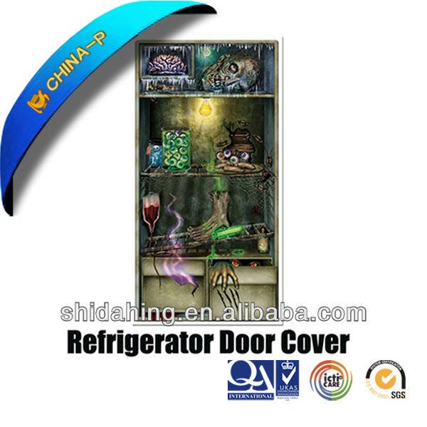 Classic Refrigerator Door Cover For Halloween Party  ~ 185336_Halloween Refrigerator Door Cover