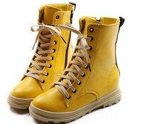 Туфли на высоком каблуке 2012 Multi Colors Hide Heel Patent Leather Boots for Women/Front Lace Up Shoes/Women's Punk Shoes  DropShipping! NSS001