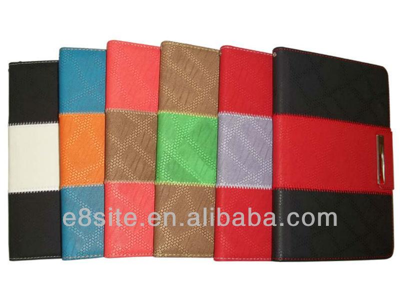 2 Colors Splice Design PU Leather Cover For iPad Mini