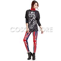 Женские носки и Колготки Women Patriot Patriotic Great Britain British UK Country Flag Legging Tregging Tight Ankle Length Footless One Size