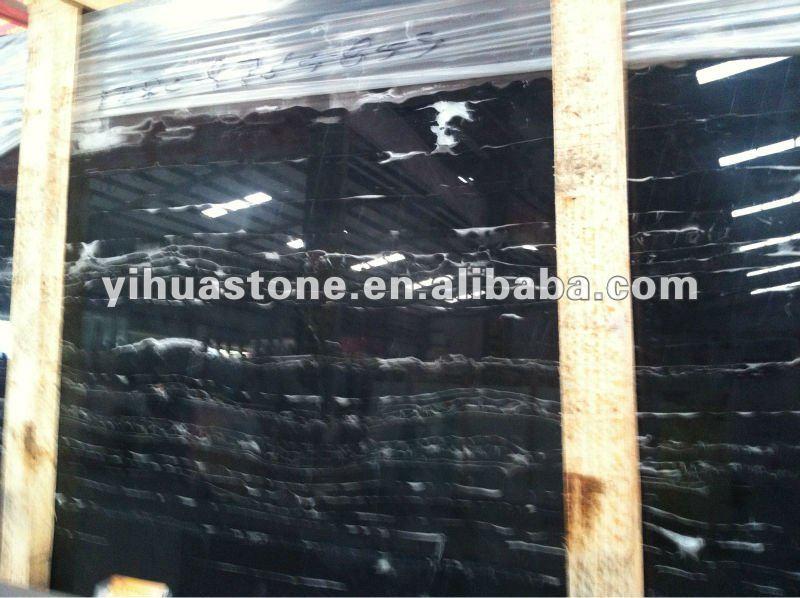 Silver portoro marble