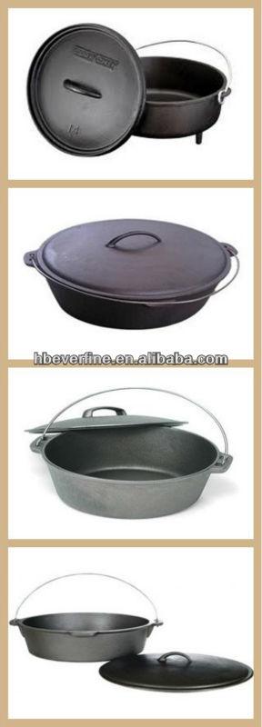 Camping Dutch Oven,Cast Iron cookware