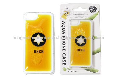 Plastic Liquid Oil Mobile Phone Case for iPhone 5 & 5s (Beer / Liquid Blue / Liquid Yellow)