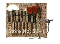 Кисти для макияжа retail new portable 8in 1 Make Up brush sets High Grade pure natural Hair Makeup brush Kit cosmetic