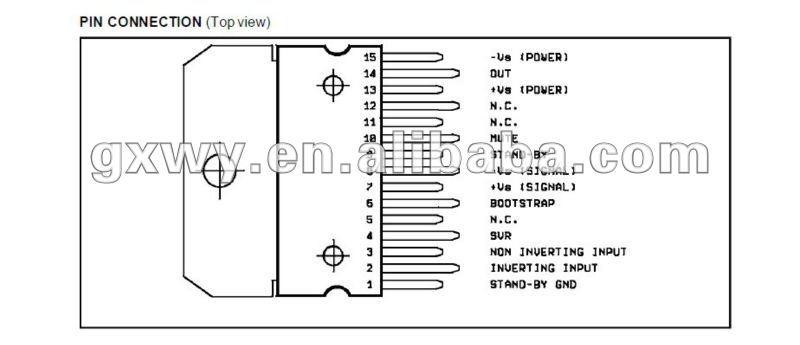 интегральной схемы tda7296