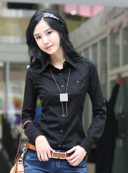 Черные Рубашки Женские