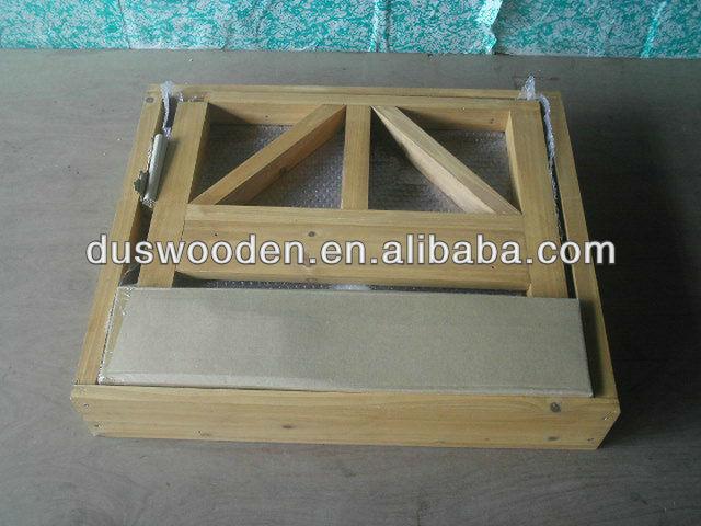 wooden dog room