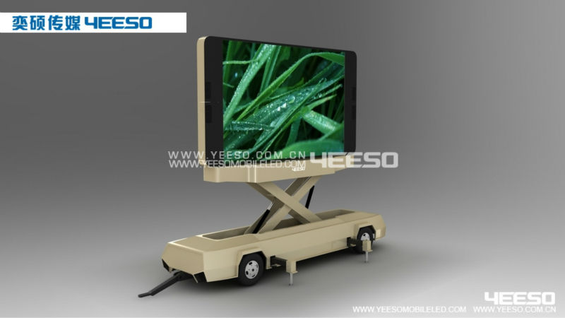 Outdoor P10 LED Display Billboard Trailer, Large LED Screen Video Media Vehicle for Broadcasting & Promotion
