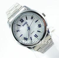 Наручные часы SINOBI 9228 Round Dial Steel Band Men's Analog Men's Wrist Watch, cheap