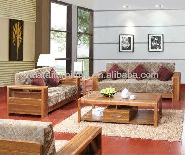 Salon tissu de meubles canap meubles de salon nature for Canape bois et tissu