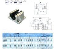 Линейный подшипник 2pcs TBR25LUU CNC Linear Ball Bearing Support Unit 11949