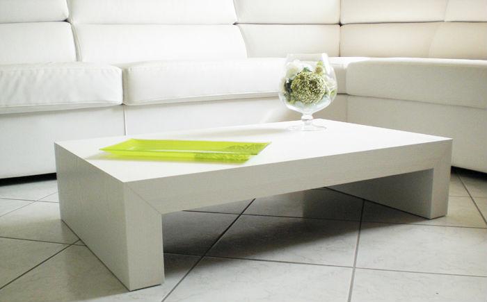 Matt white coffee table italian design buy italian - Coffee table italian design ...