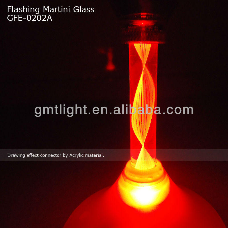 Flashing Martini Cocktail Shaped Led Glass