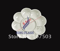Инструменты для дизайна ногтей New 5pcs White Acrylic Color Mixing Paint Draw Design Nail Art Palette Dish Flower 5843