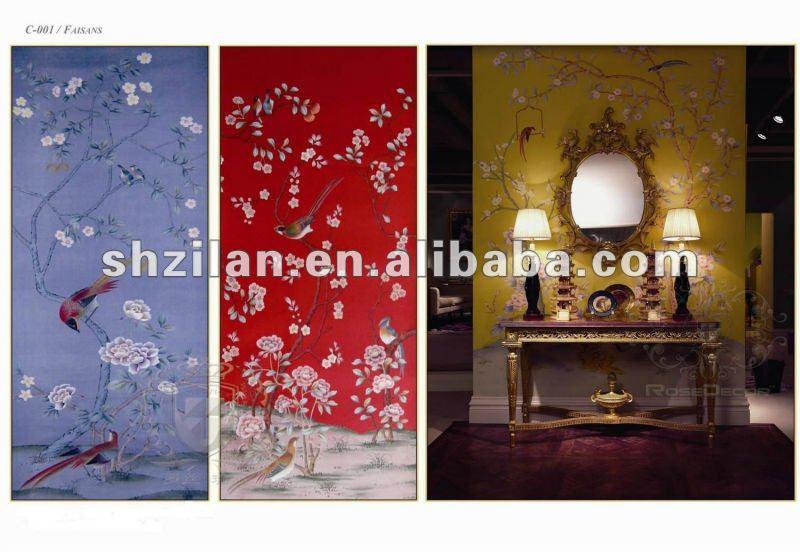 Individuell Bedruckte Tapete : traditionelle chinesische handmalerei tapete-Tapeten/Wand-Schicht