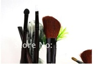 Free shipping-wholesale retail new portable 8in 1 Make Up brush sets High Grade pure natural Hair Makeup brush Kit cosmetic