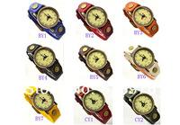 Наручные часы 1pcs Classic Watch vintage handmade soft genuine leather watchband brief fashion quartz constellation cowhide watches ship