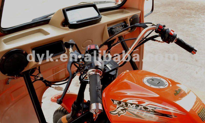 Three Wheel Tarpaulin Covered KA200W-E Gasoline Cargo Tricycle